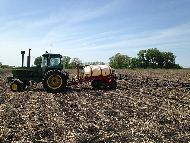 Jerry Groskreutz using his 4430 and sprayer to stay ahead of the weeds . Jerry Groskreutz/Townsquare Media