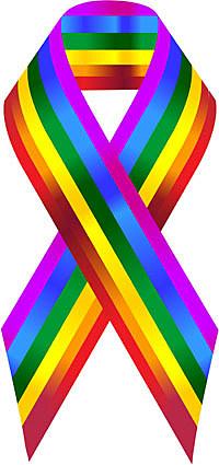 Cock sleeve gay and lesbian rainbow ribbons gave