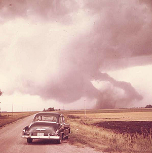 Elbow Lake Tornado September 5, 1969- photo from HSEM