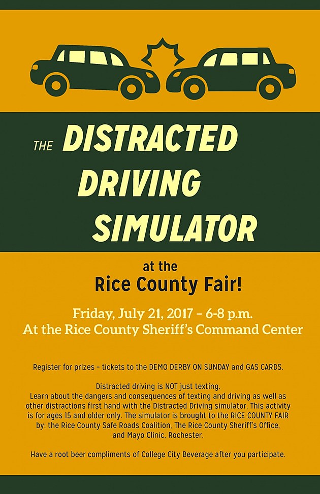 Rice County Fair Distracted Driving Poster.  Provided by Safe Roads Coalition