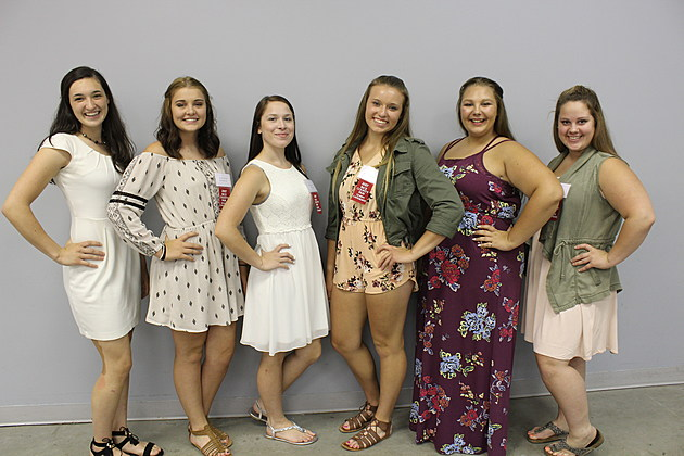 Rice County Fair 2017 Queen Contestants- L-R, Lauren Wieber,
