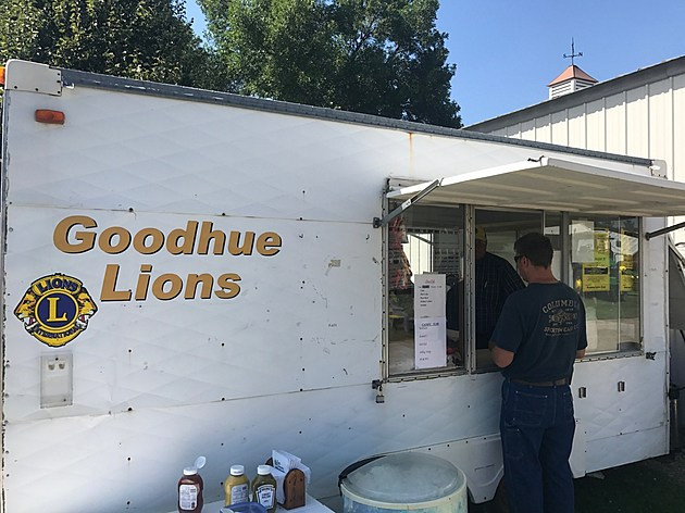 Goodhue Lions Brat Wagon at Goodhue County Fair.  Photo by Gordy Kosfeld