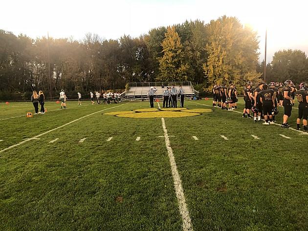 Falcons at Mankato East October 18. Photo by Gordy Kosfeld