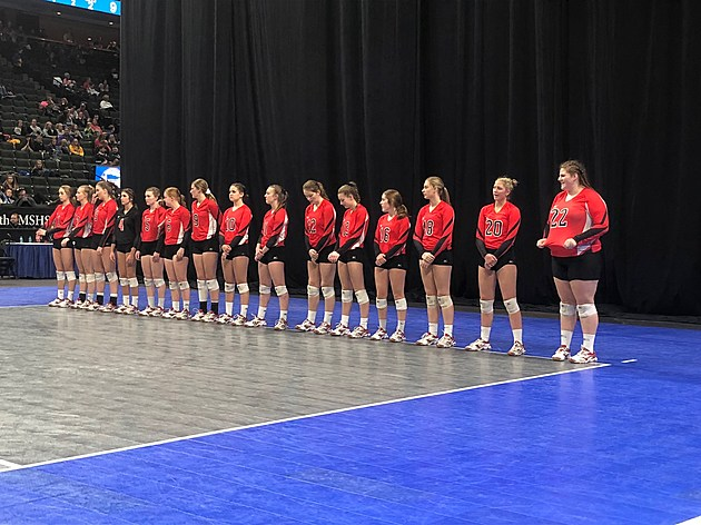 Bethlehem Academy Introductions at State 2017. Photo by Gordy Kosfeld