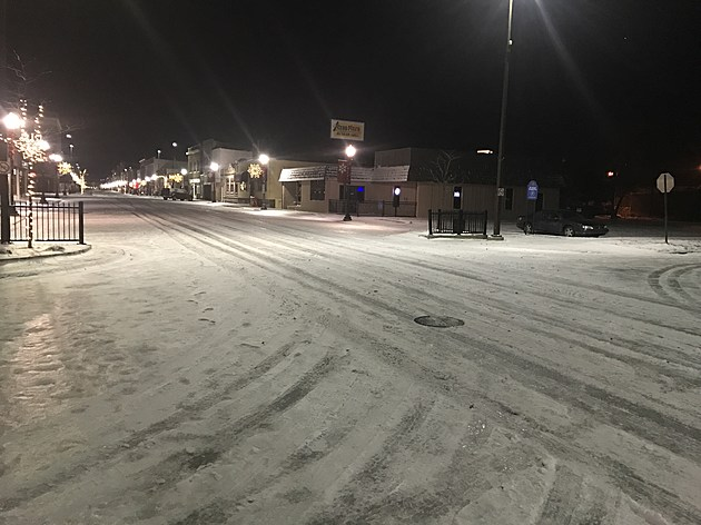 CENTRAL AVENUE SNOW PACKED