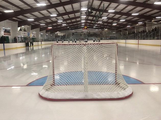 Hockey Goal and Net  at Faribault Ice Arena. Photo by Gordy Kosfeld