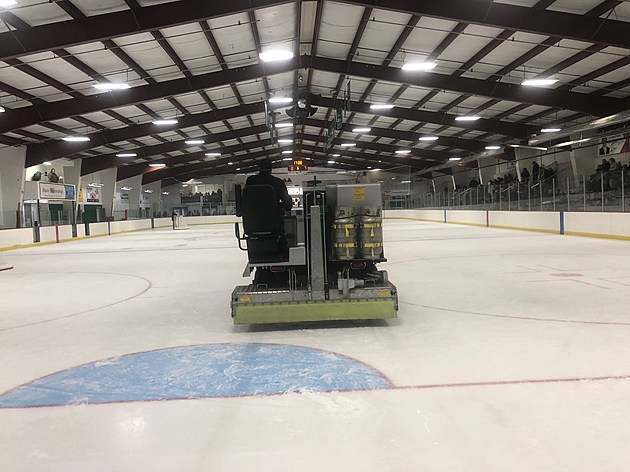 Zamboni at Faribault Ice Arena.  Photo by Gordy Kosfeld